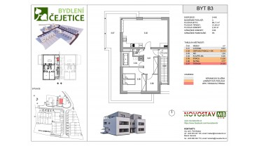Viladům B, byt B3 - 2+kk
