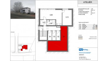 Viladům Bradlec - ateliér (2kk+sklep+ parkování)